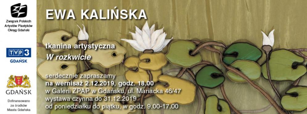 """Wernisaż wystawy """"Tkanina Artystyczna w Rozkwicie"""" Ewy Kalińskiej"""