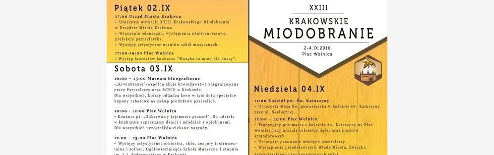 XXIII Krakowskie Miodobranie