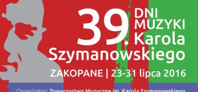 1. dzień rozpoczynający 39. Dni Muzyki Karola Szymanowskiego