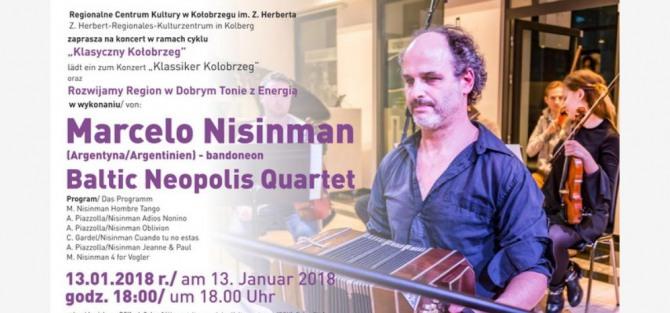 Koncert Baltic Neopolis Quartet i Marcelo Nisinma