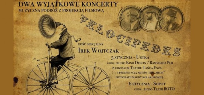 Koncert Ze Velocipedes + Irek Wojtczak // Muzyka, taniec, film.