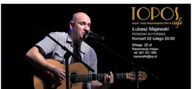 Łukasz Majewski w Topos Cafe - koncert