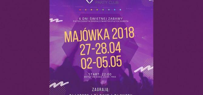 Majówka 2018 w Alibi Party Club! 6 Imprezowych DNI!