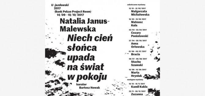 """Otwarcie wystawy Natalii Janus-Malewskiej """"Niech cień słońca upada na świat w pokoju"""""""