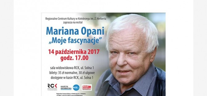 "Recital Mariana Opani ""Moje fascynacje"""