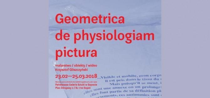 """Wernisaż Krzysztof Gliszczyński """"Geometrica de physiologiam pictura"""""""