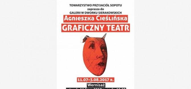 """Wernisaż Wystawy """"Graficzny Teatr"""" Agnieszki Cieślińskiej"""