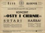 """""""Osty i ciernie"""", czyli Sutari i Hańba! w Alchemii - koncert"""