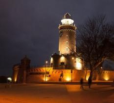 Ratusz, latarnia morska i Twierdza Kołobrzeg