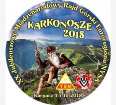 """XX Jubileuszowy Międzynarodowy Rajd Górski Euroregionu NYSA """"KARKONOSZE 2018"""""""