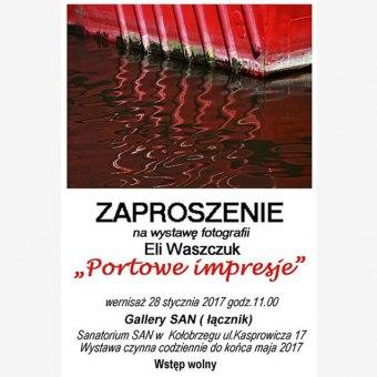 """Wernisaż wystawy Eli Waszczuk """"Portowe impresje"""""""