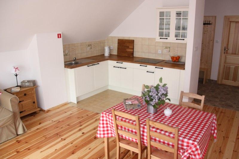 Aneks kuchenny w apartamencie 4-ro osobowym.