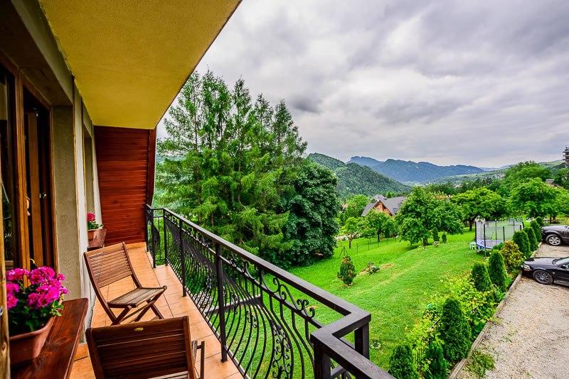 piękny widok z balkonu