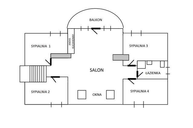 Plan piętra domu