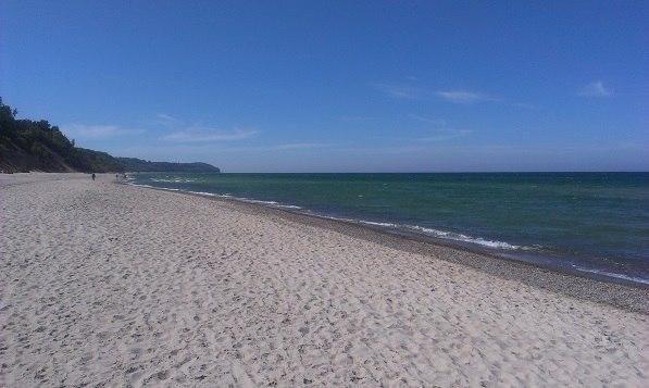 Plaża we Władysławowie blisko obiektu