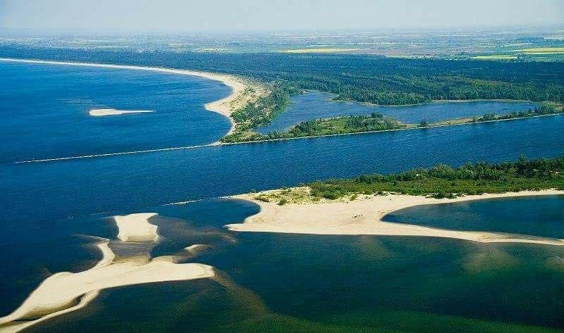 Ujście Wisły, Jezioro Mikoszewskie, plaża, las
