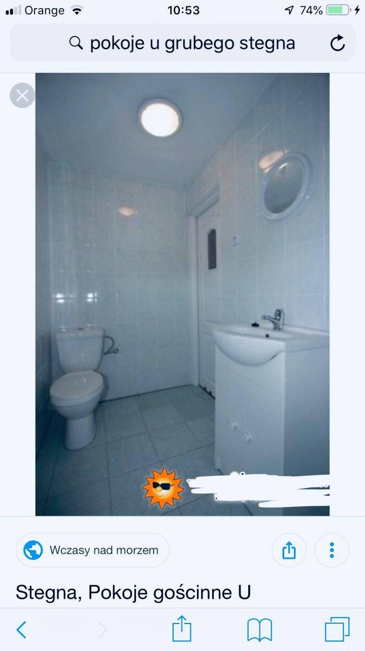 łazienka w pokojach