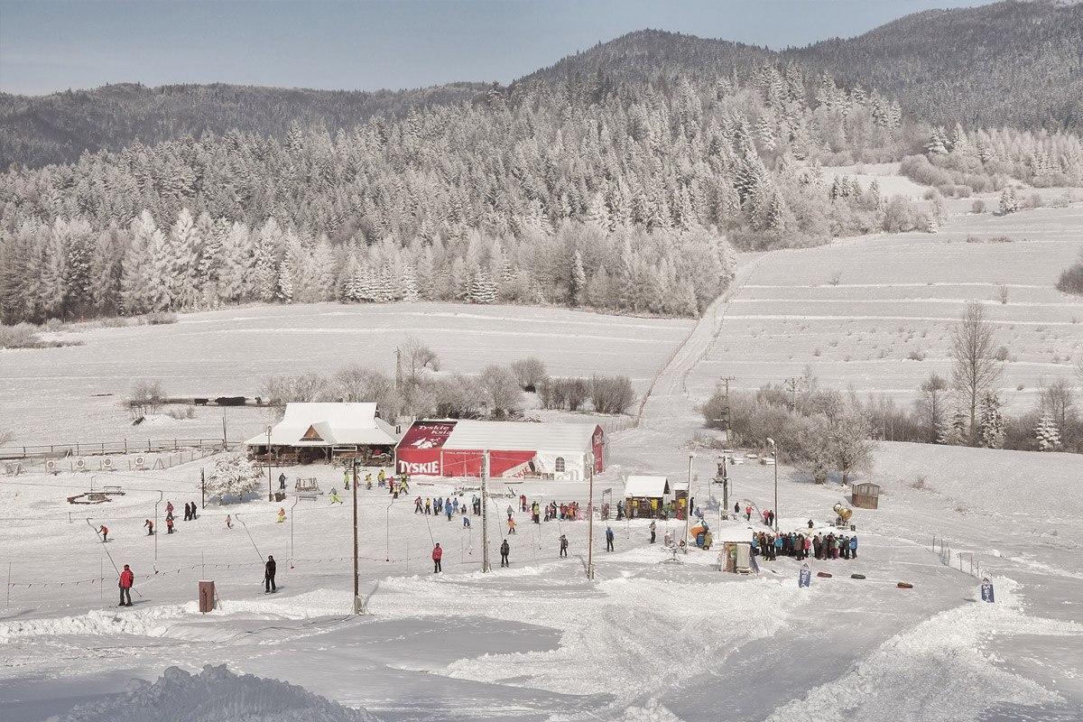 Stacja narciarska.