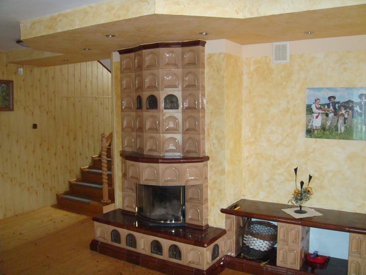 Dom - kominek, salon