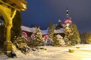 Dom Zdrojowy zimą