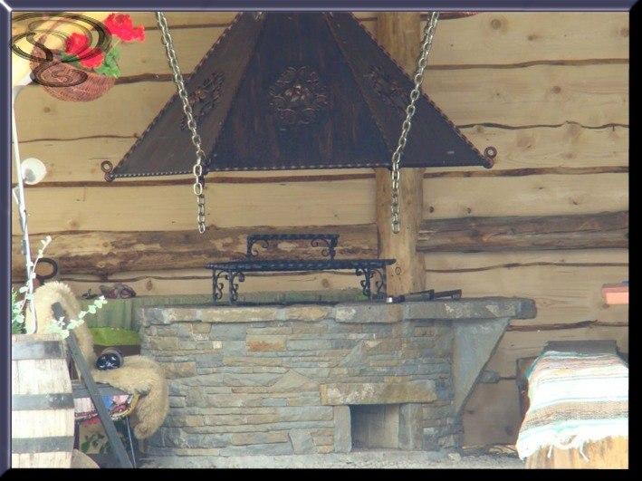 góralski szalas z grillem