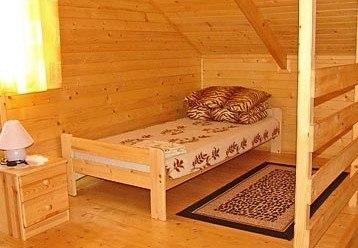sypialnia w domku pietrowym