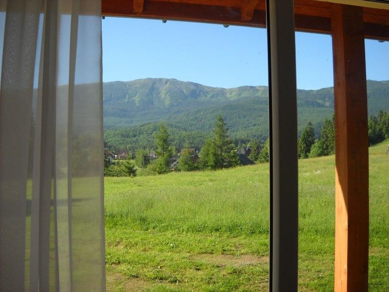 widok z okna jadalni