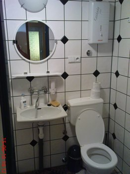 dom drewniany łazienka