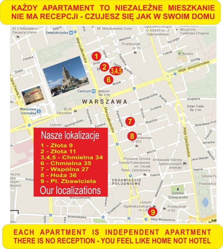 Mapa z naszymi lokalizacjami