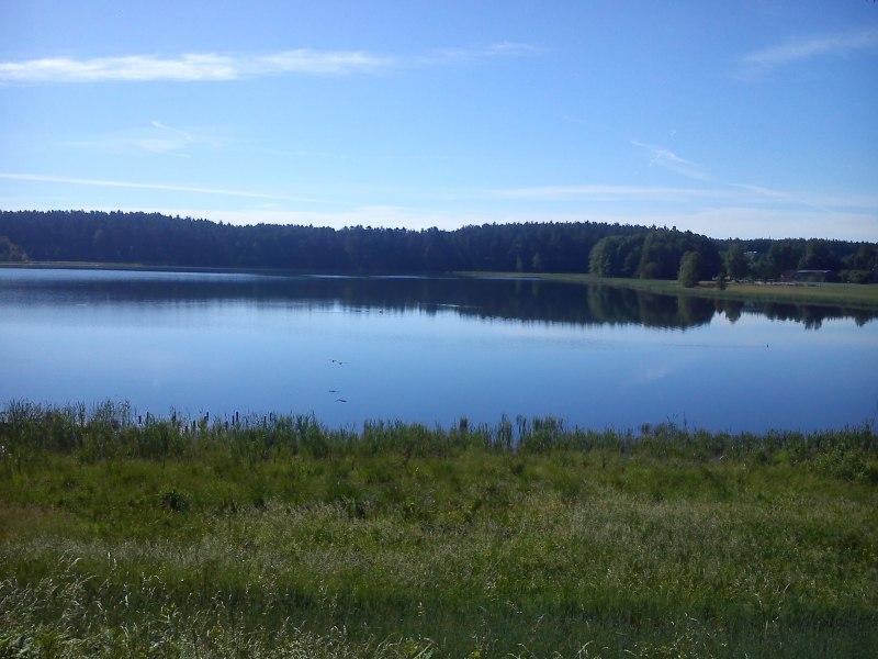 widok na jezioro Wieckie