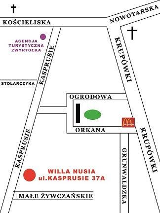 Willa Nusia centrum Zakopanego