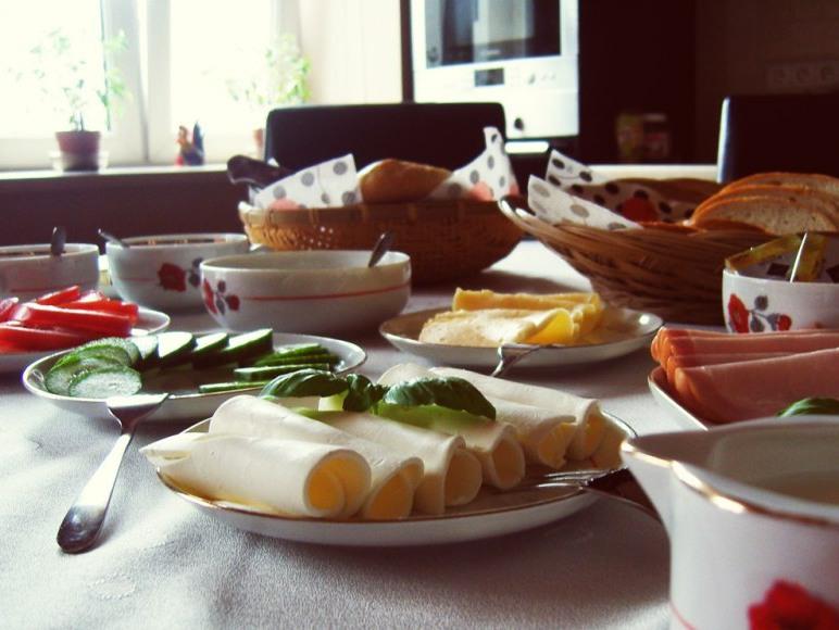 Tak wygląda śniadanie, jakie serwujemy naszym Gościom.