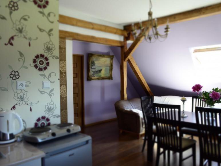 Duży salon z aneksam kuchennym