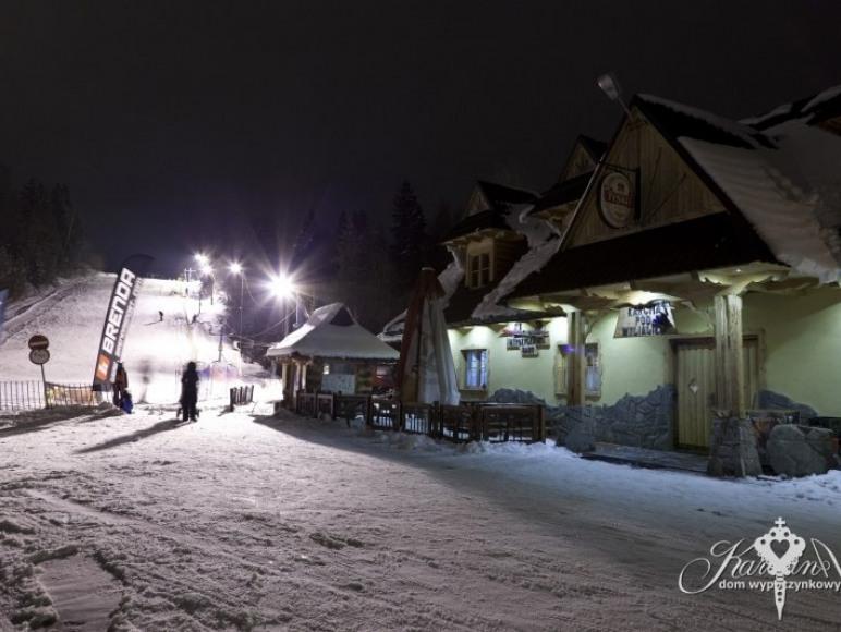 wyciąg narciarski na posesji