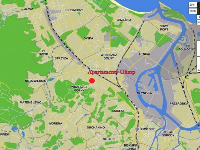 Lokalizacja na planie Gdańska