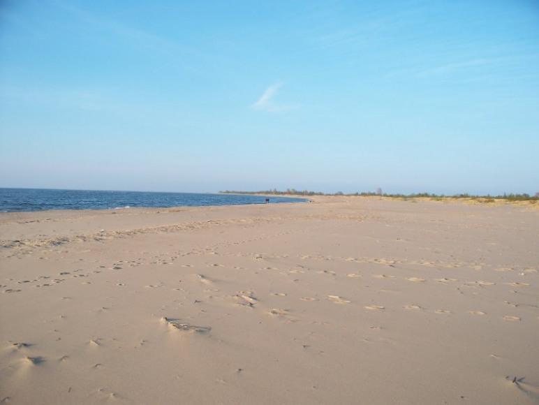 piękna,szeroka plaża
