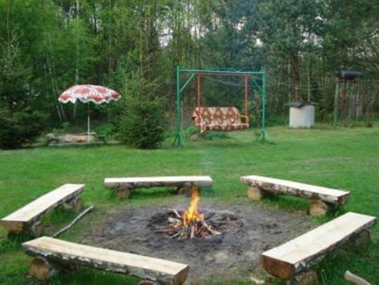 Ranczo - ognisko, huśtawka