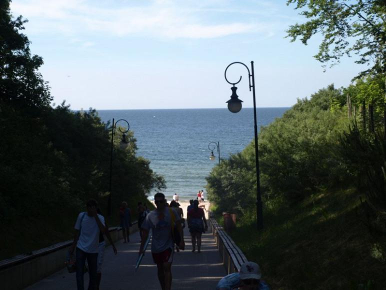 zejście na plażę