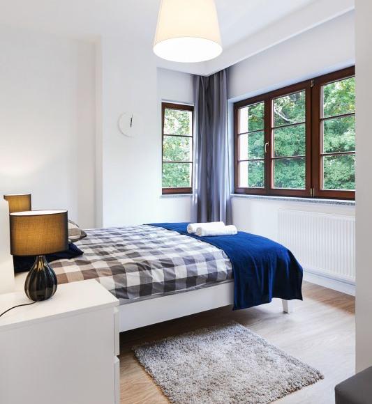 Apartament z tarasem- sypialnia dwuosobowa I