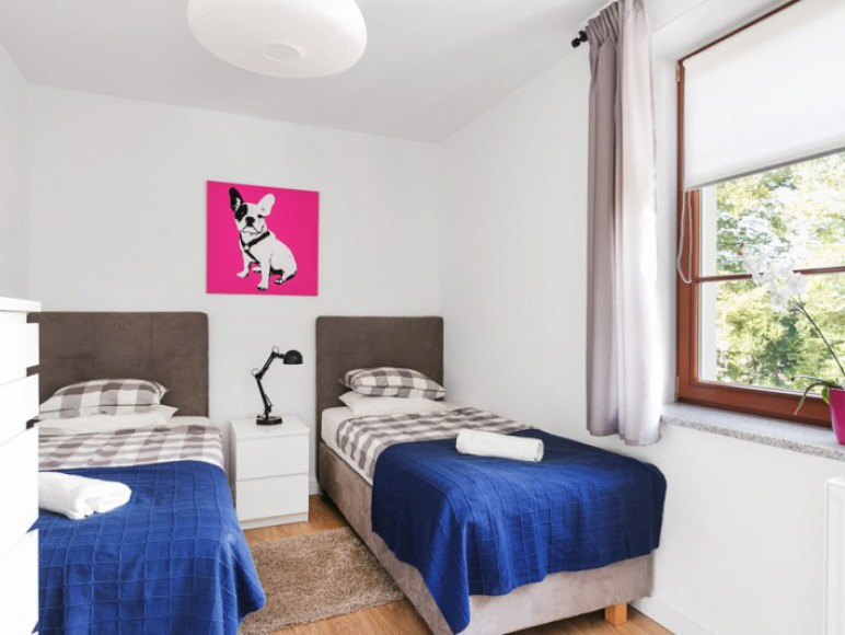 Apartament z tarasem- sypialnia dwuosobowa II