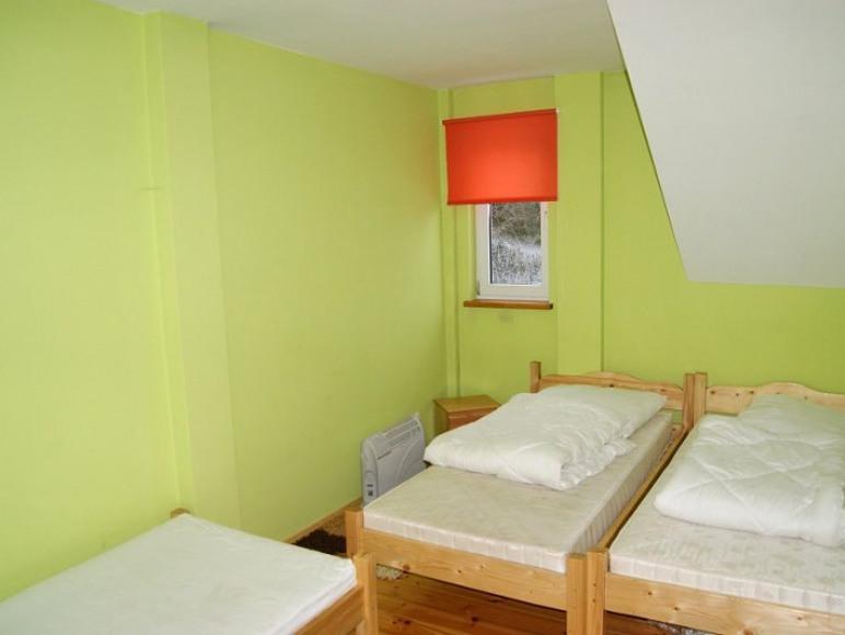 Trzyosobowa sypialnia na parterze