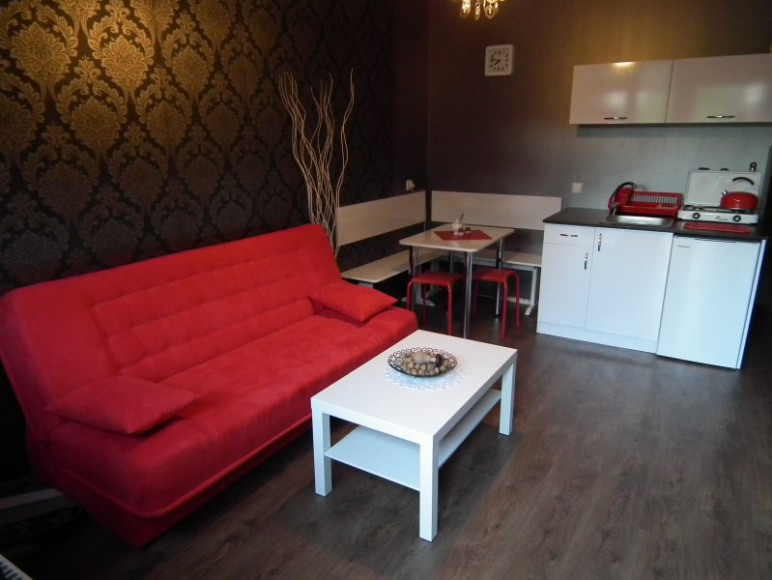Apartament nr 2 - Pokój dzienny z aneksem kuchennym