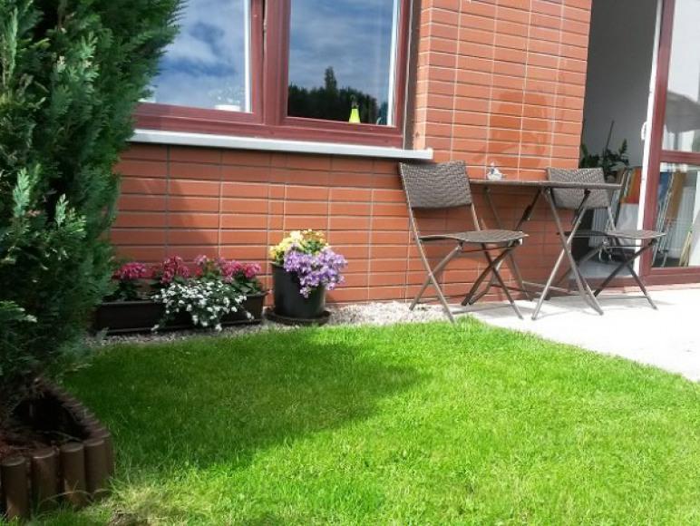 taras z ogródkiem
