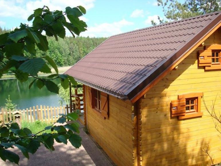 Domek w Dziemianach z widokiem na jezioro