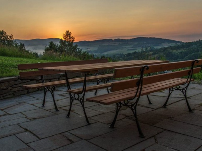 panorama z tarasu domku