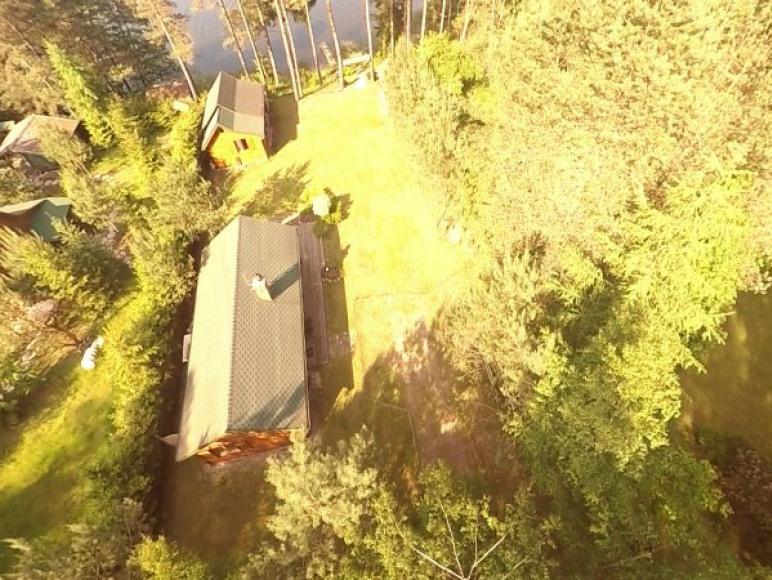 Zdjęcie działki z lotu ptaka