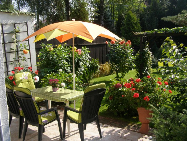 taras od strony ogrodu