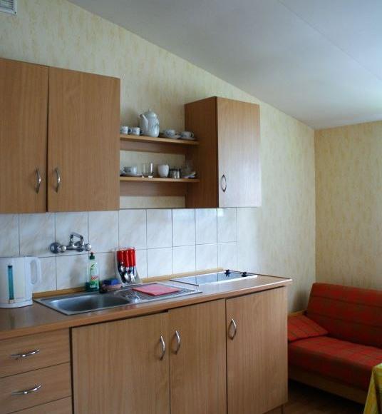 Kameralny, kuchnia w domku