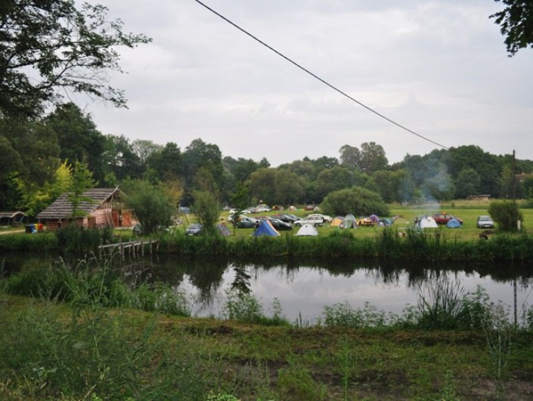 Widok na camping