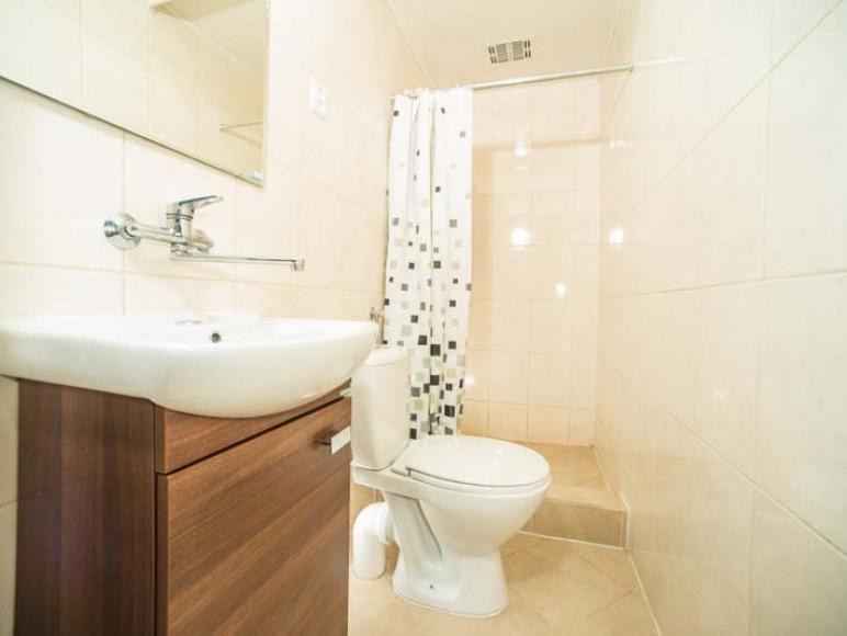Łazienka w domku 2 pokojowym